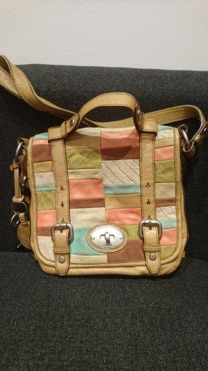 Fossil Tasche, vintage, bunt, original, Leder