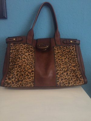 Fossil Shopper dark brown-cognac-coloured
