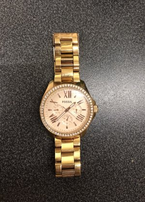 Fossil Montre or rose