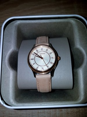 Fossil Analog Watch gold-colored-beige