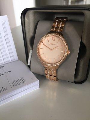 Fossil Uhr Armbanduhr BQ3116 Damen Neu Gold Roségold