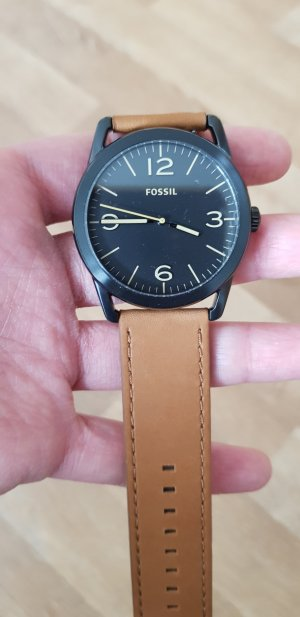 fossil Uhr braun Lederband neu
