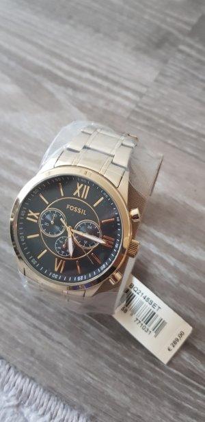 fossil Uhr breit gold neu