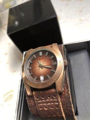 Fossil Uhr, bronzefarben, Lederarmband