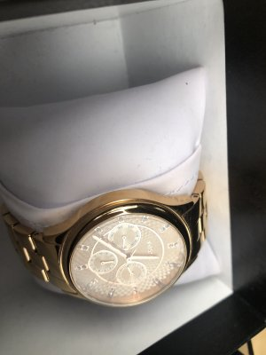 Fossil Analog Watch gold-colored-pink