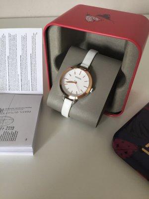 Fossil Uhr Damenuhr Armbanduhr Leder Roségold Silber neu BQ3328