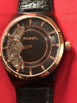 Fossil Watch rose-gold-coloured-black