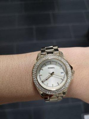 fossil Uhr gold