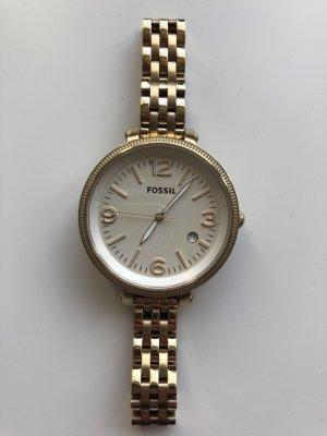 Fossil Horloge met metalen riempje goud-wit Metaal