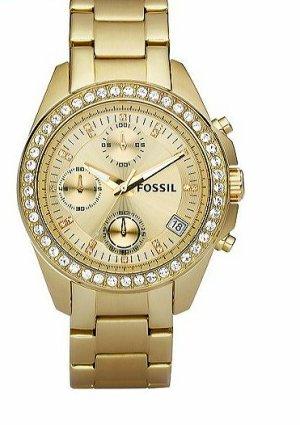 Fossil Uhr / Gold mit Glitzersteinchen