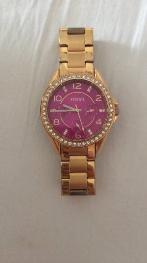 Fossil Uhr Gold pink