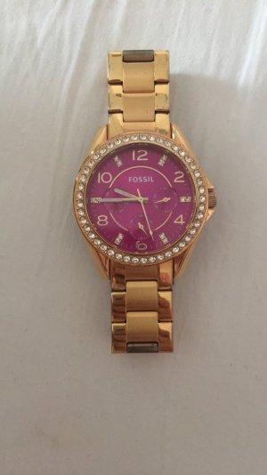 Fossil Uhr Gold pink- letzter Preis