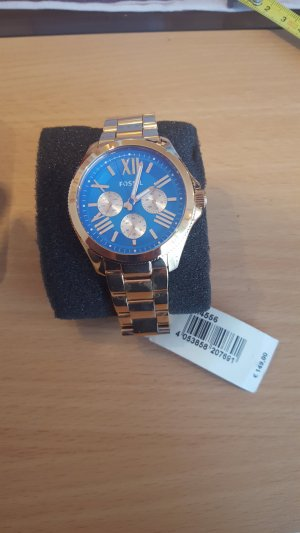 Fossil Uhr in gold/blau (NP149€)