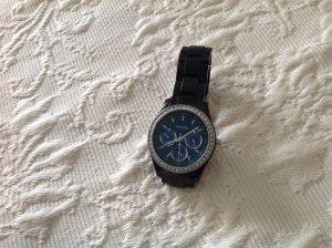 Fossil Uhr in Royalblau mit Strass
