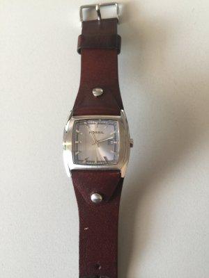 Fossil Uhr mit braunem Lederband