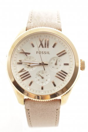 "Fossil Uhr mit Lederarmband ""Cecile Chrono Sand"""
