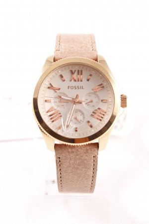"""Fossil Watch With Leather Strap """"Cecile Chrono Sand"""""""