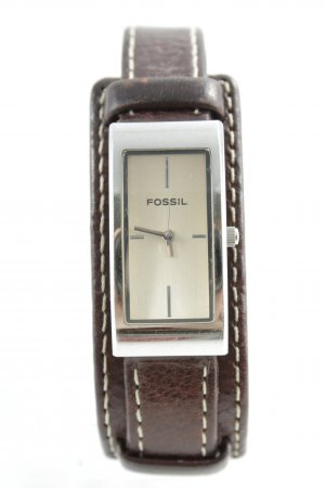 Fossil Watch With Leather Strap multicolored casual look