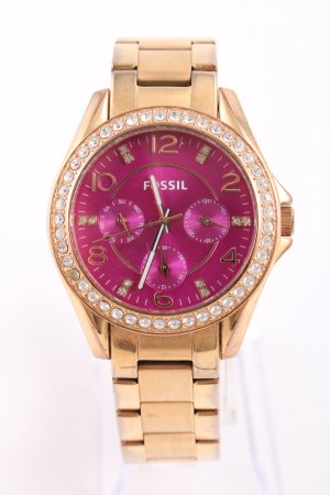 Fossil Watch With Metal Strap gold-colored-pink elegant