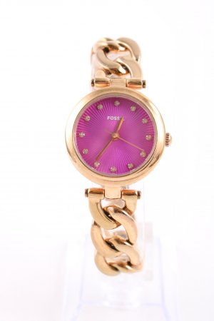 Fossil Watch With Metal Strap pink-gold-colored business style