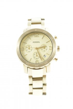 Fossil Watch With Metal Strap gold-colored elegant