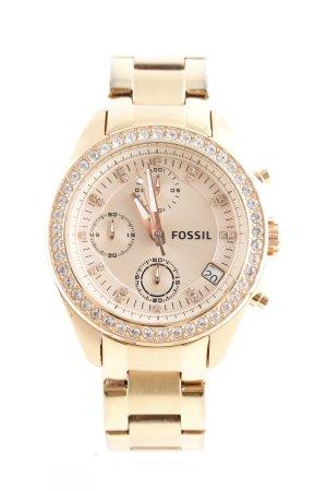 Fossil Uhr mit Metallband goldfarben Glanz-Optik