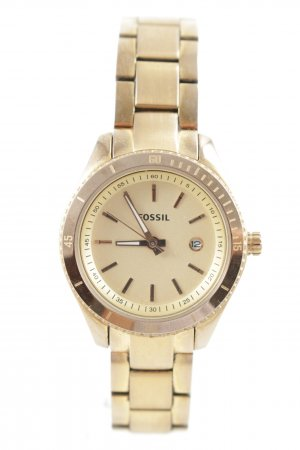 Fossil Watch With Metal Strap gold-colored classic style