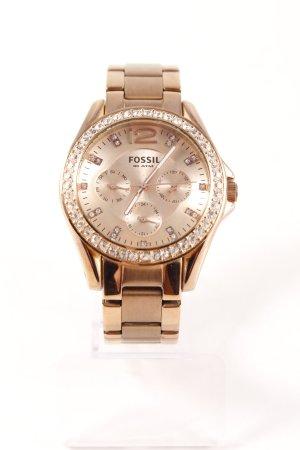 Fossil Uhr mit Metallband roségoldfarben-silberfarben Elegant