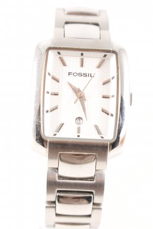 Fossil Watch With Metal Strap silver-colored casual look