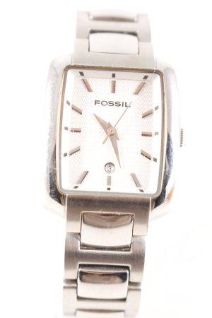 Fossil Uhr mit Metallband silberfarben Casual-Look