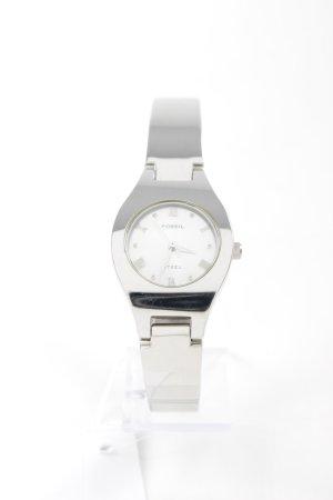 Fossil Uhr mit Metallband silberfarben-hellgrau Business-Look