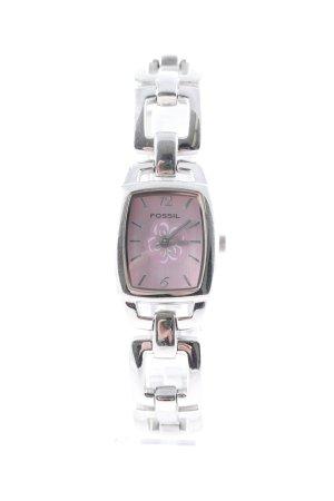 Fossil Uhr mit Metallband silberfarben klassischer Stil