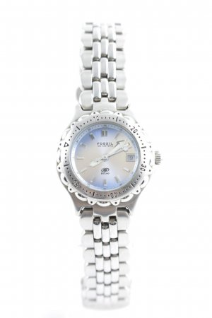 Fossil Watch With Metal Strap silver-colored-steel blue casual look