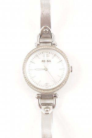 Fossil Watch With Metal Strap silver-colored-white casual look