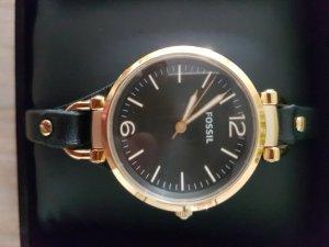 Fossil Uhr mit schwarzem Lederband