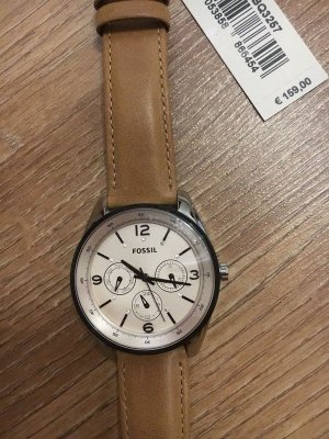 Fossil Watch With Leather Strap light brown leather
