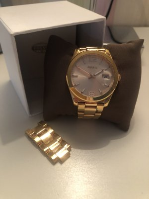 Fossil Analog Watch gold-colored stainless steel