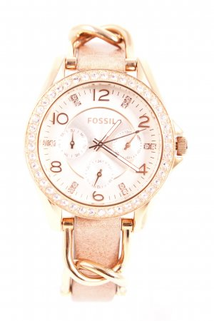 "Fossil Uhr ""Riley Watch Rosegold Sand Strap"""