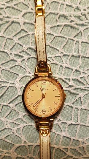 Fossil Uhr rosè weiß