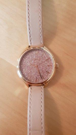 Fossil Horloge met lederen riempje roségoud-rosé