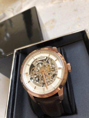 Fossil Uhr, Roségold, Gold braunes Lederband