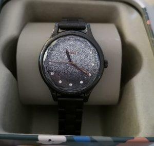 Fossil Uhr schwarz Glitzer neu