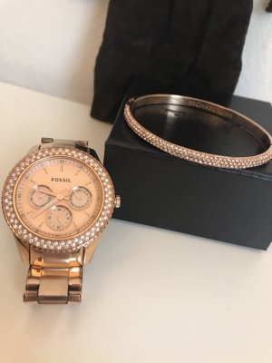 Fossil Uhr und Michael Kors Armband in Roségold