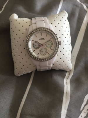 Fossil Uhr Weiß-Silber