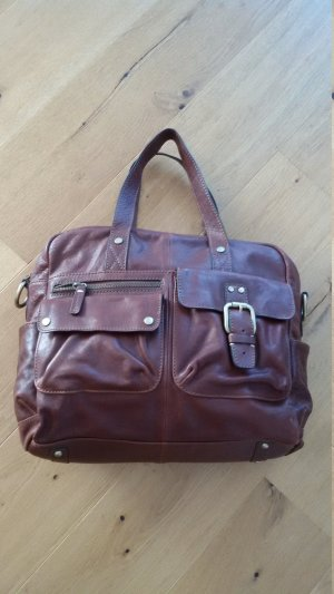 Fossil Weekender Bag brown leather