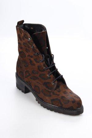 Foteneau Boots braun-schwarz Leomuster Street-Fashion-Look