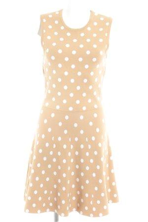 Four flavor A-Linien Kleid sandbraun-wollweiß Punktemuster Casual-Look