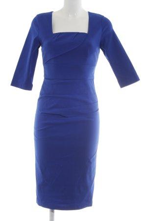 Four flavor Etuikleid blau Business-Look