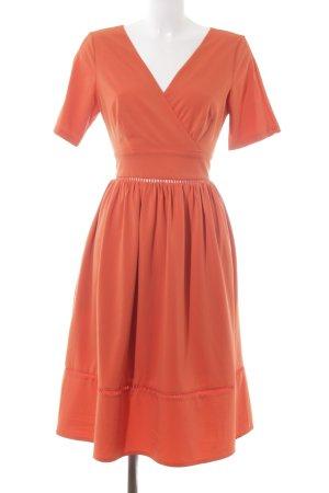 Four flavor Midi Dress neon orange elegant