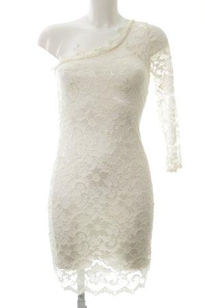 Four flavor One-Shoulder-Kleid hellgelb florales Muster Elegant